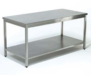 Inox werktafel met ondertablet 11000142 for Table cuisine inox professionnelle